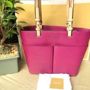 Michael Kors Garnet Tan Bedford Pebble Leather Bag